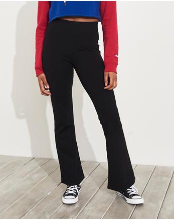 cd2e19d4a991 Ultra High-Rise Knit Flare Pants