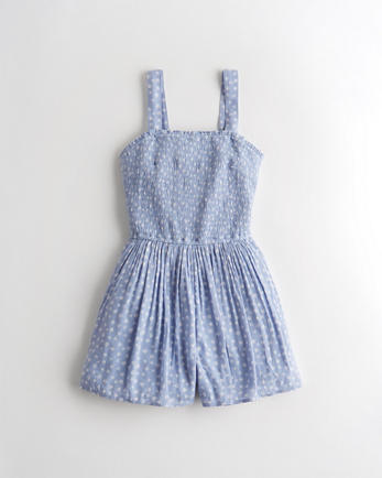 홀리스터 Hollister Smocked Romper
