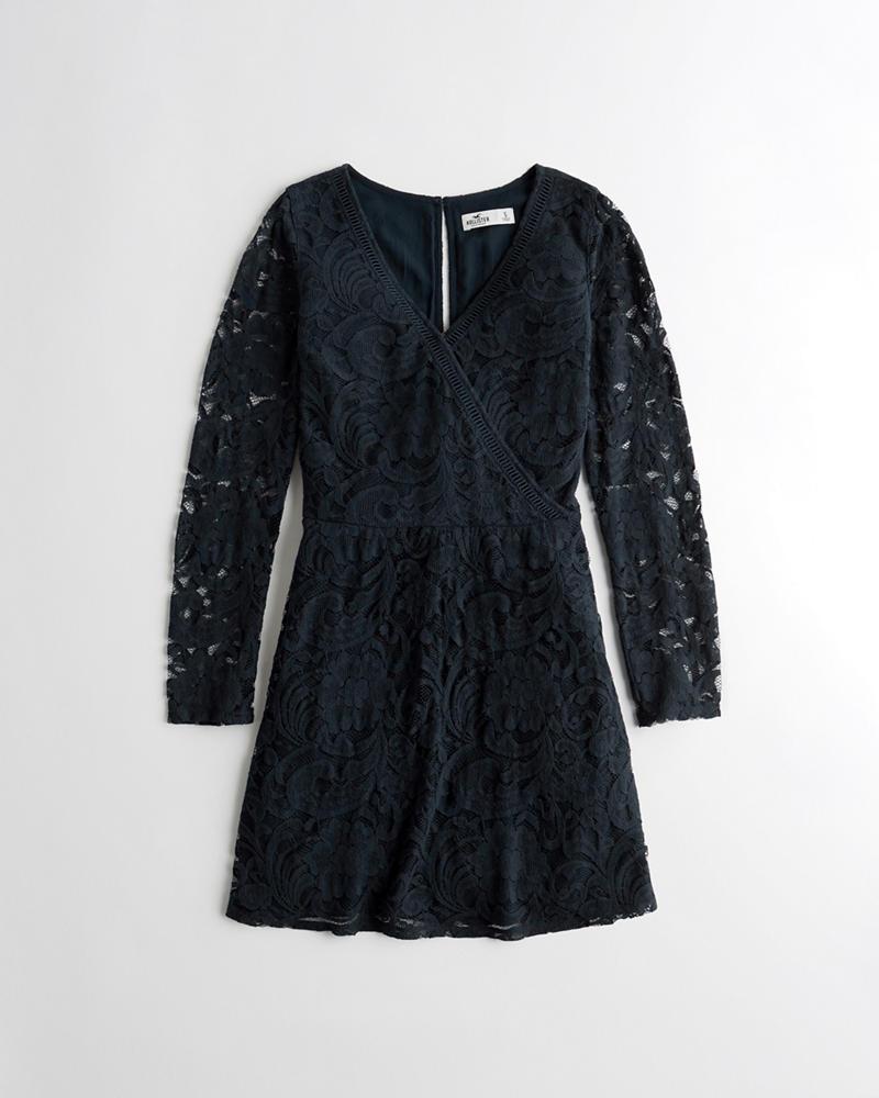 7e9a3e5cfbb30 Girls Lace Wrap Dress