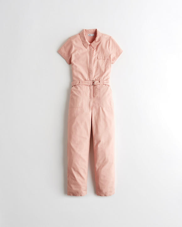 Belted Utility Jumpsuit by Hollister