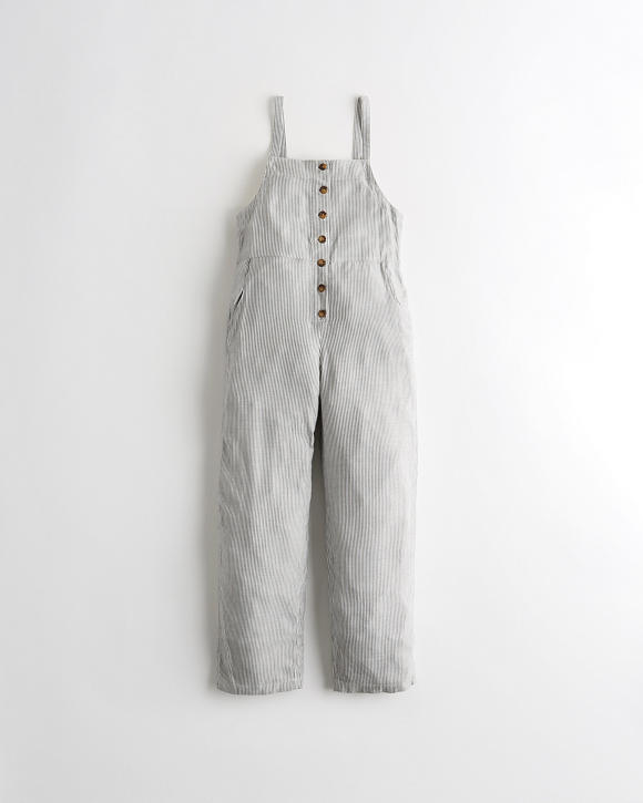 Button Front Jumpsuit by Hollister