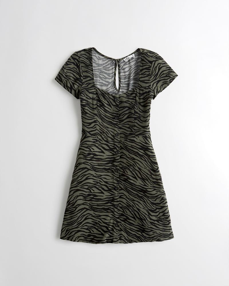 32e04722f943 Girls Button-Front A-Line Dress | Girls Clearance | HollisterCo.com