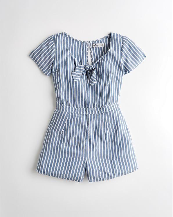 fb60cafe4 Girls Tie-Front Romper | Girls Dresses & Rompers | HollisterCo.com