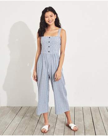 5a8c7cabc0c Crop Wide-Leg Linen-Blend Jumpsuit