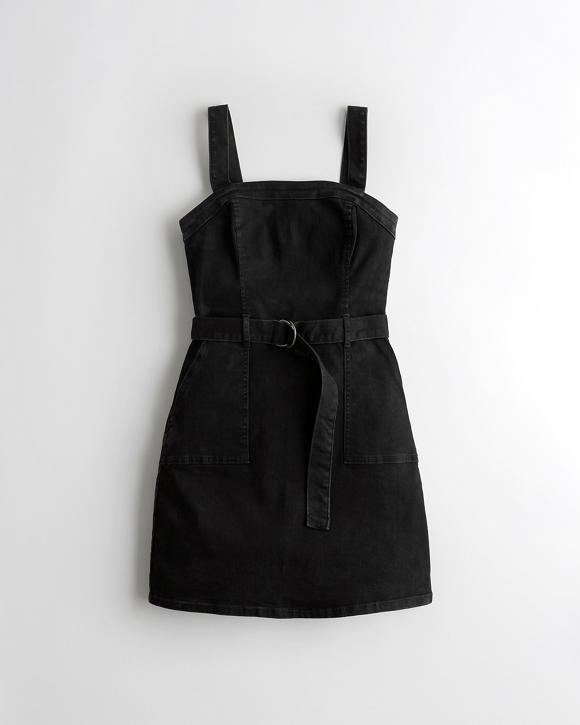 Belted Denim Dress by Hollister