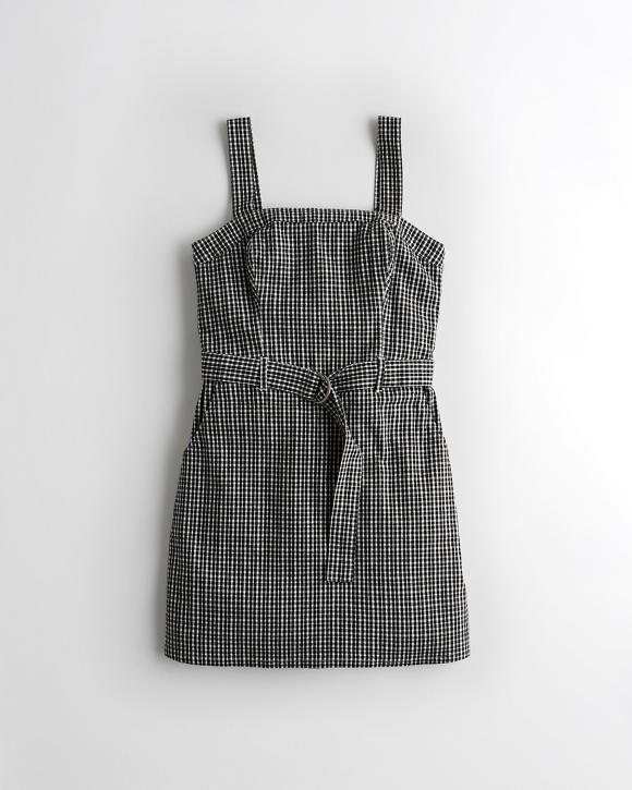 Belted Square Neck Dress by Hollister