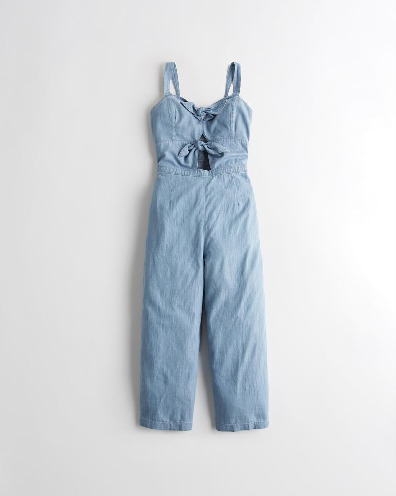 komplettes Angebot an Artikeln heiß-verkaufendes echtes hell im Glanz Mädels Kurz geschnittener, geschnürter Jumpsuit mit weitem ...