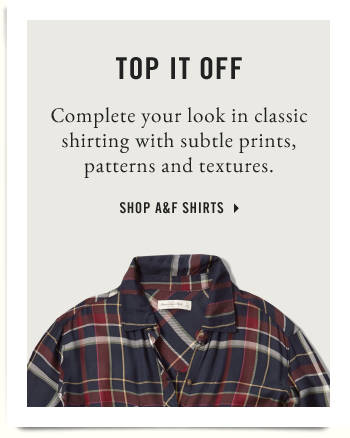 Top it off. Complete your look in classic shirting with subtle prints, patterns & textures. Womens plaid shirt.