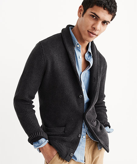 man wearing abercrombie spring new arrivals