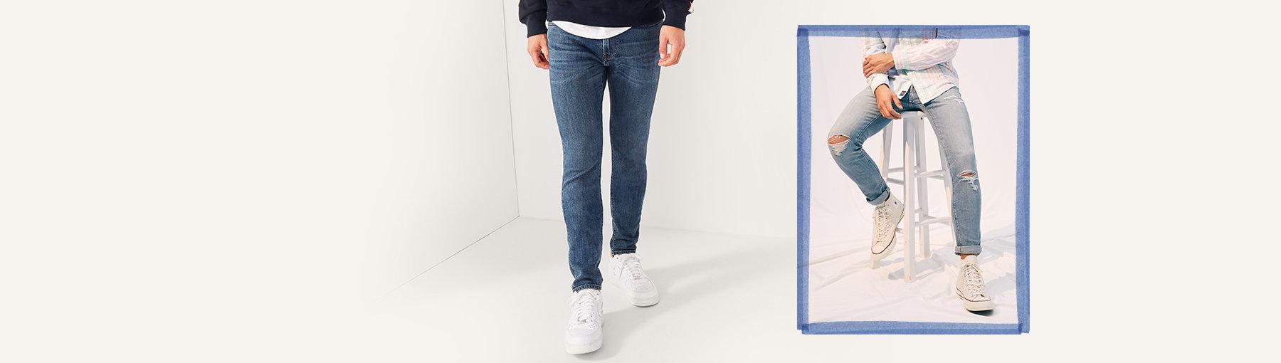 69d0f6534c Jeans superajustados de hombre