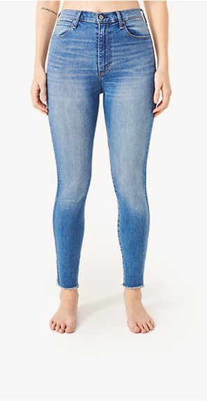 front view of woman in high rise jeans 72d841268e