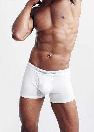 Shirtless man in trunk style underwear. baab7cc5e