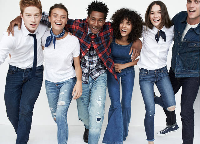 Group in jeans