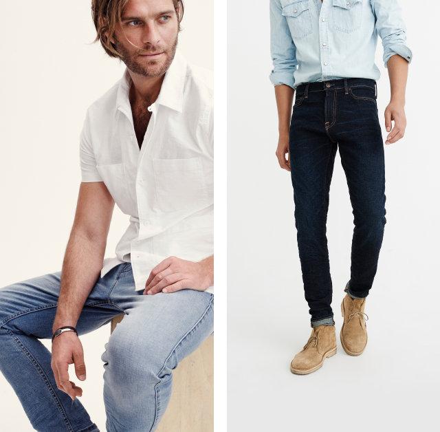 Mens Jeans Bottoms | Abercrombie.com