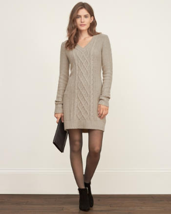 Womens Cable Sweater Dress