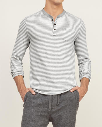 ANF Muscle Fit Striped Henley