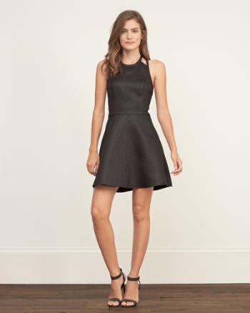 Womens Strappy Skater Dress