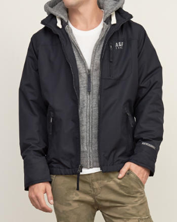 Mens A&F All-Season Weather Warrior Hooded Jacket