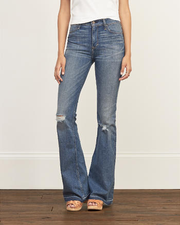 ANF A&F High Rise Flare Jeans