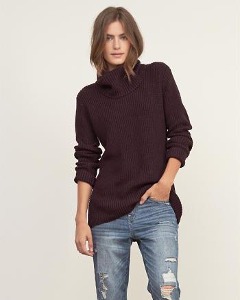 ANF Shaker Stitch Turtleneck Sweater