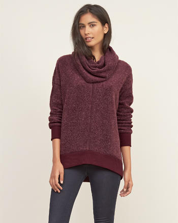 ANF Long Cowl Neck Pullover