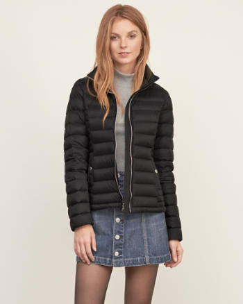ANF A&F Down Series Lightweight Puffer Jacket