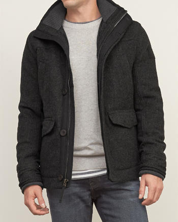 ANF Quilt Lined Wool Jacket