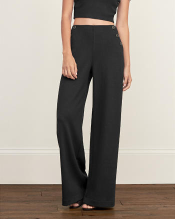 ANF Herringbone Wide Leg Pants