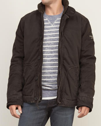 Mens Sherpa Lined Utility Jacket