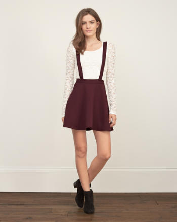 Womens Suspender Skater Skirt