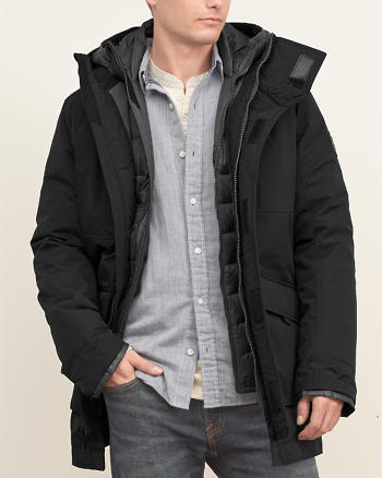 ANF A&F All-season 3-In-1 Down Parka