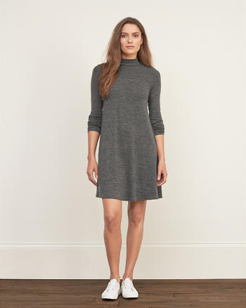 ANF Mock Neck Swing Dress