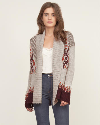 ANF Patterned Boyfriend Cardigan