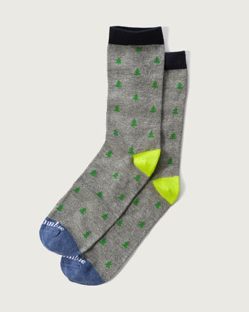 Mens A&F Patterned Classic Socks