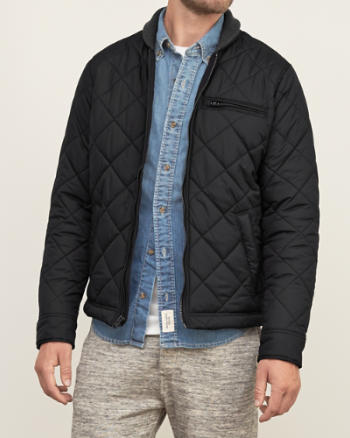 Mens Premium Quilted Bomber Jacket