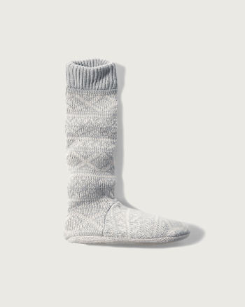 Womens Patterned Slipper Socks