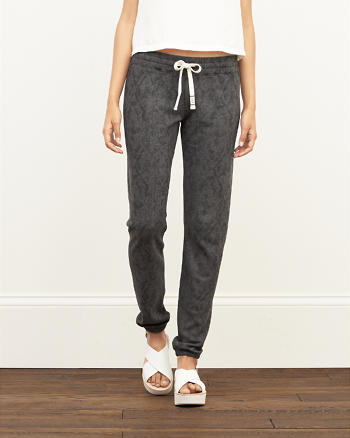 ANF A&F Patterned Banded Sweatpants