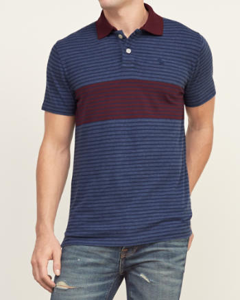 Abercrombie And Fitch Stripe Polo