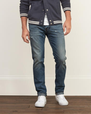 Mens Selvedge Straight Everyday Stretch Jeans