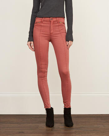ANF A&F High Rise Silk-Luxe Leggings