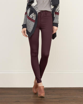 Womens A&F High Rise Silk-Luxe Leggings