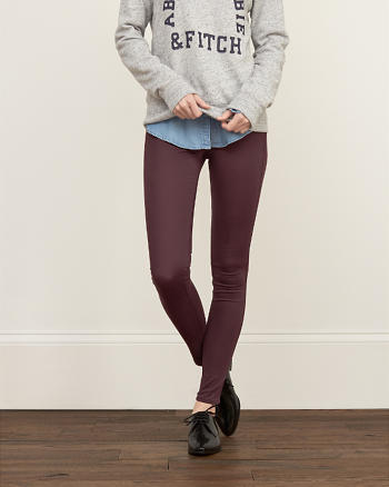 ANF A&F Low Rise Silk-Luxe Leggings