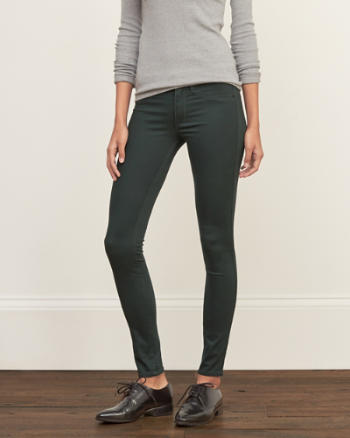 Womens A&F Low Rise Silk-Luxe Leggings