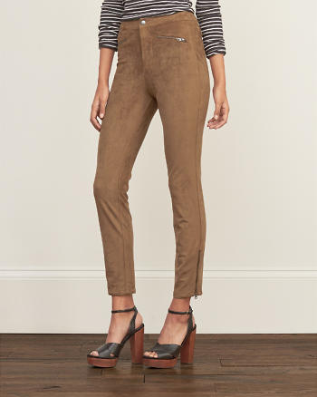 ANF Faux Suede Zip Pants