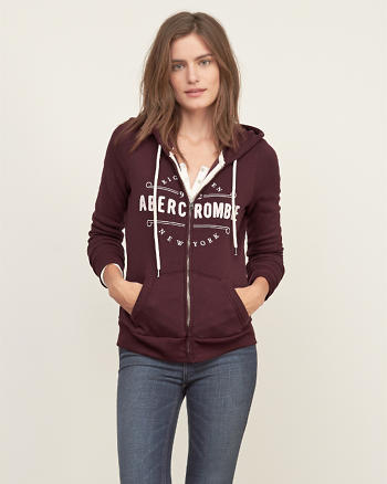 ANF Applique Logo Graphic Hoodie