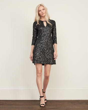 ANF Sequin A-line Dress