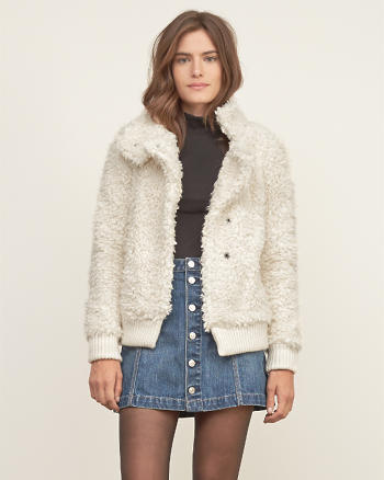 ANF Collared Sherpa Jacket