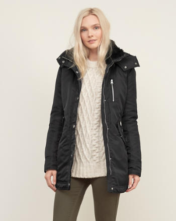 Womens Long Nylon Parka