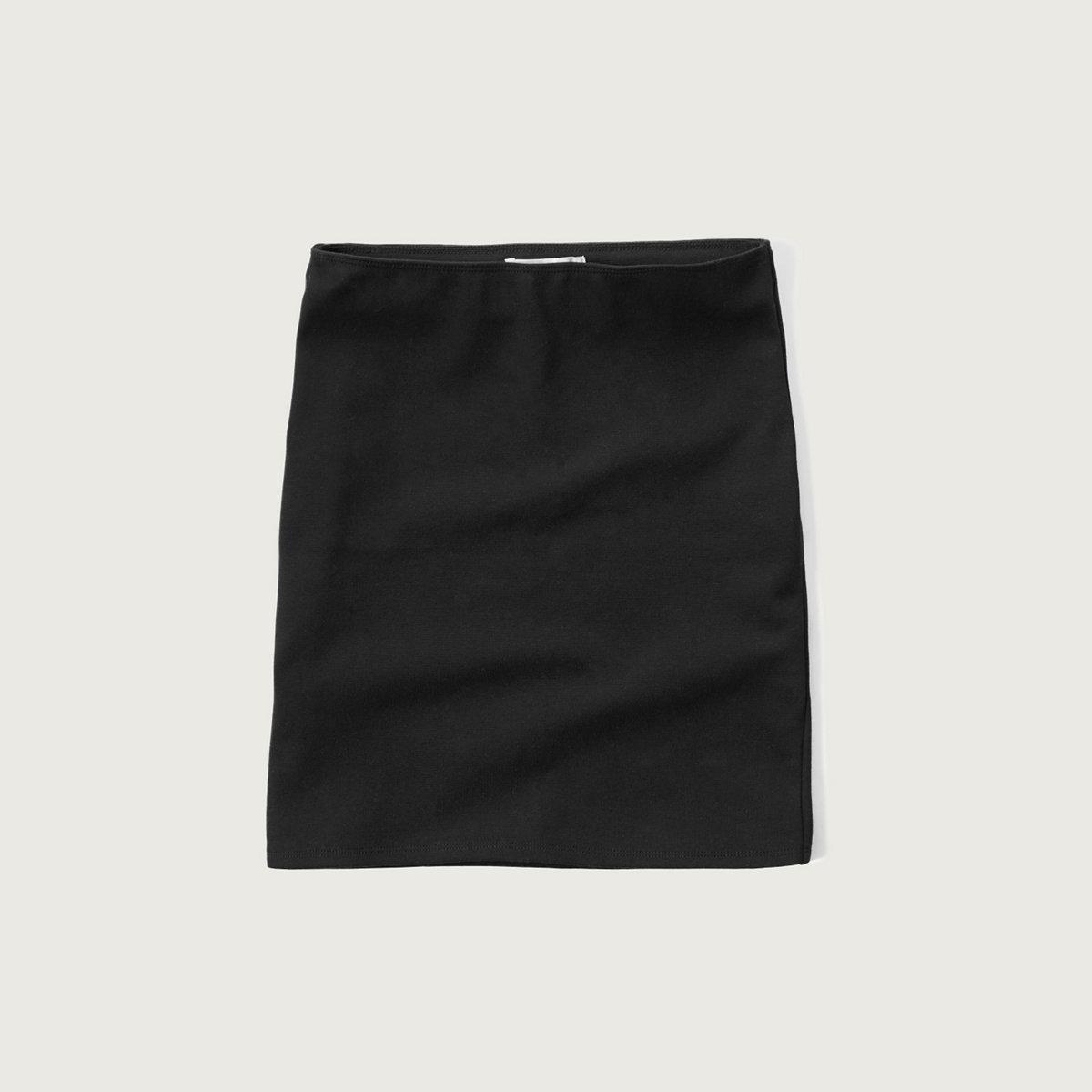 Ponte Stretch Mini Skirt