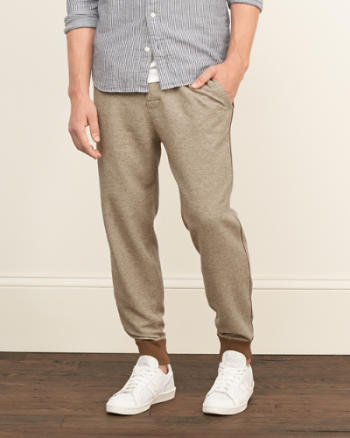 Mens A&F Iconic Fleece Joggers